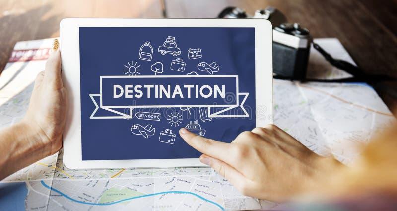 旅行的目的地旅途假日概念 免版税图库摄影