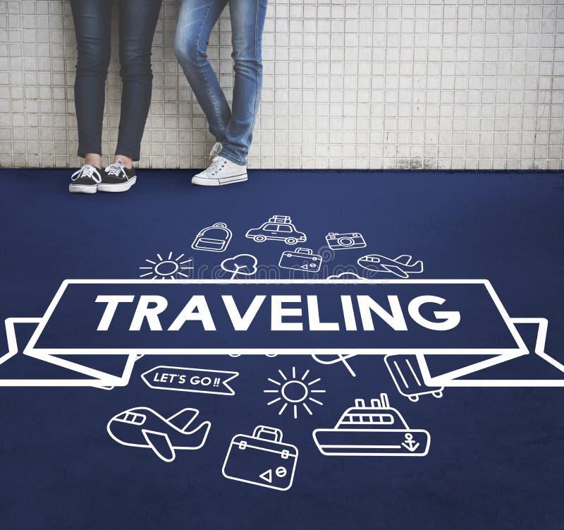 旅行的目的地旅途假日概念 免版税库存照片