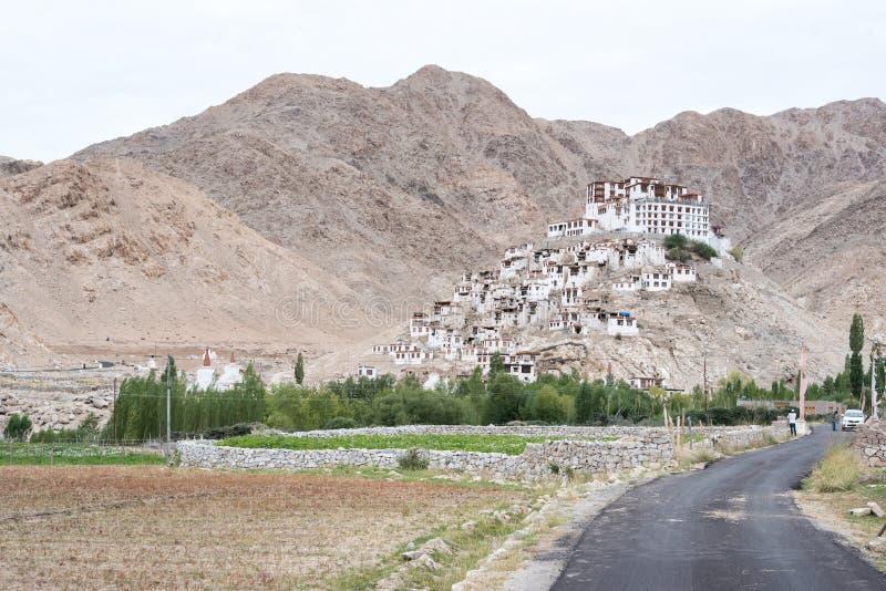 旅行的风景视图在Lah ladakh 免版税库存照片