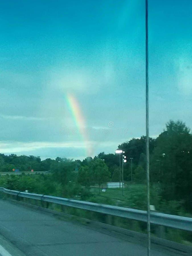 旅行的77 N在彩虹 图库摄影