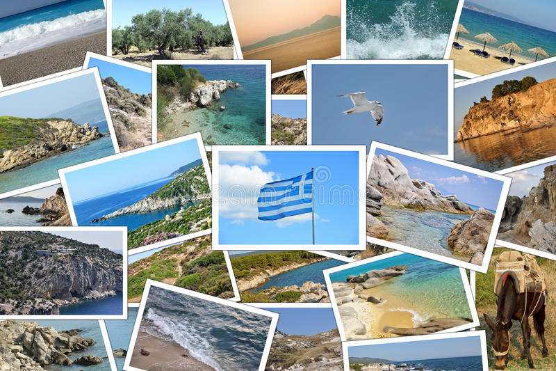 旅行目的地在希腊 免版税图库摄影