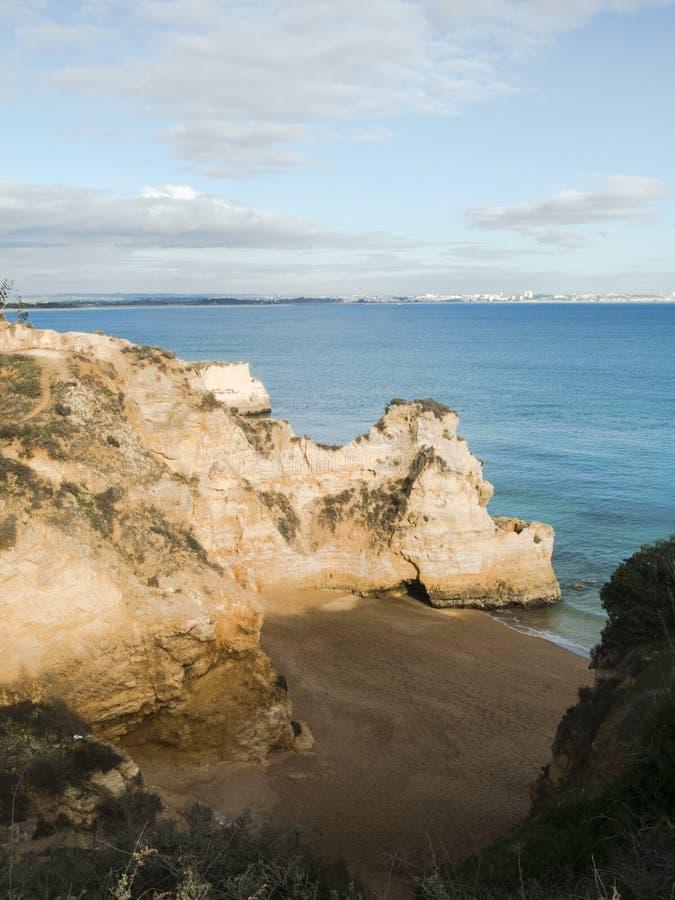 旅行目的地阿尔加威拉各斯葡萄牙 库存照片
