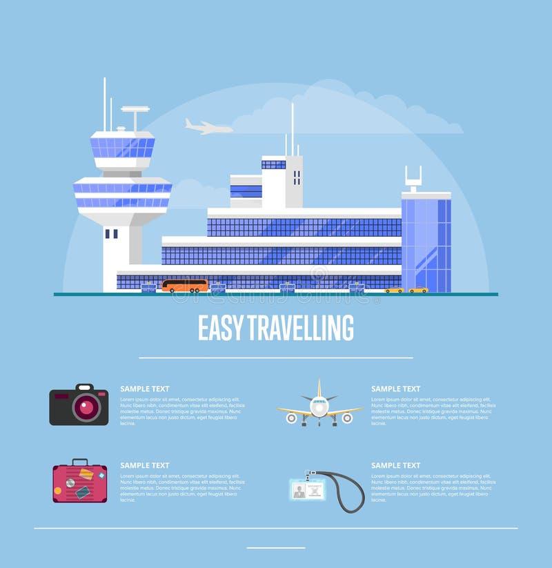 旅行社的容易的旅行的概念 向量例证