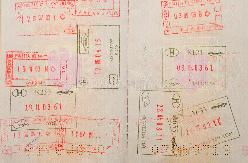 旅行签证 免版税库存照片