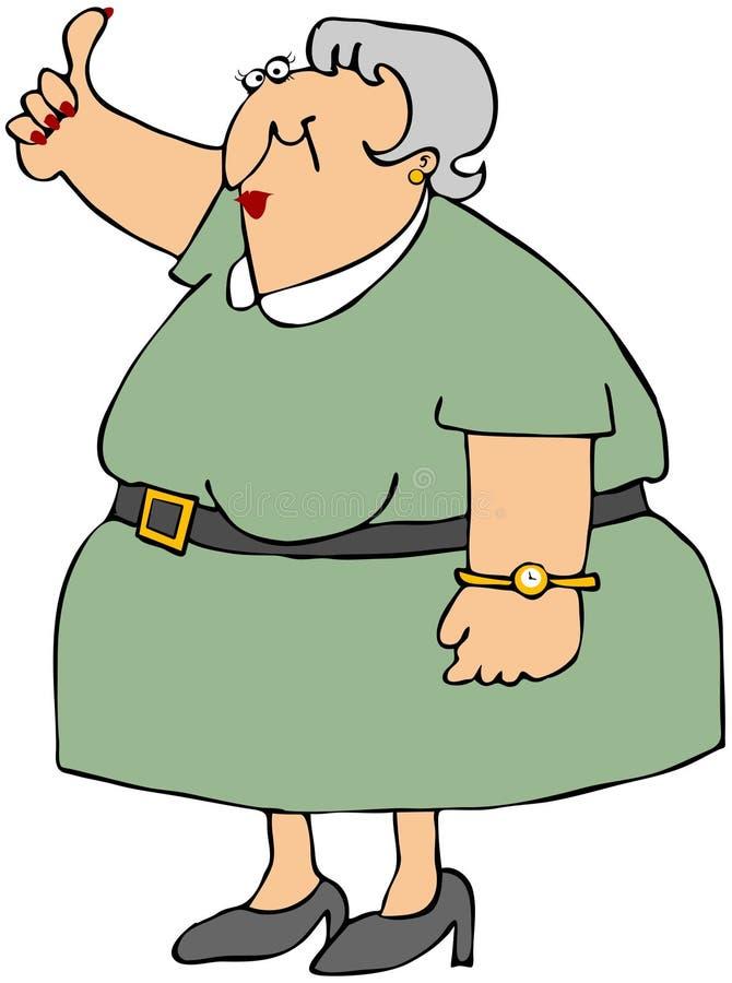 旅行者老妇人