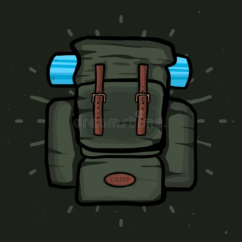 旅行背包传染媒介现实例证,被隔绝的背包 皇族释放例证