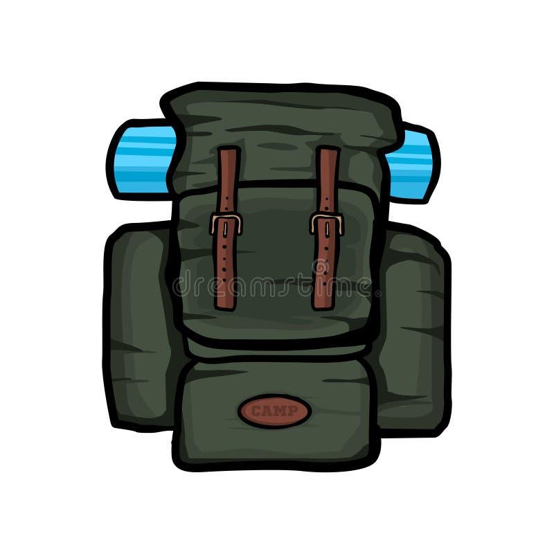 旅行背包传染媒介现实例证,被隔绝的背包 库存例证