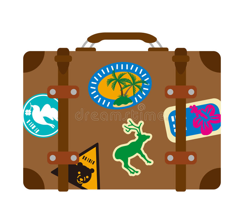 旅行袋子,被隔绝 向量例证