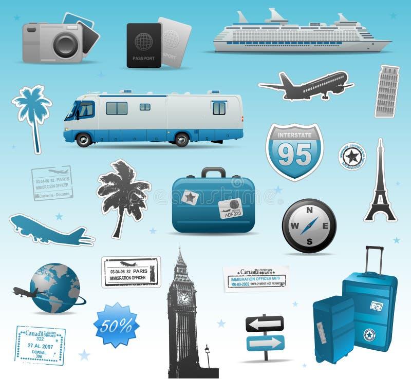 旅行要素 向量例证