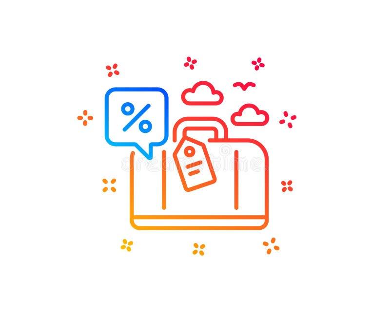旅行贷款百分之线象 旅行折扣标志 ?? 向量例证