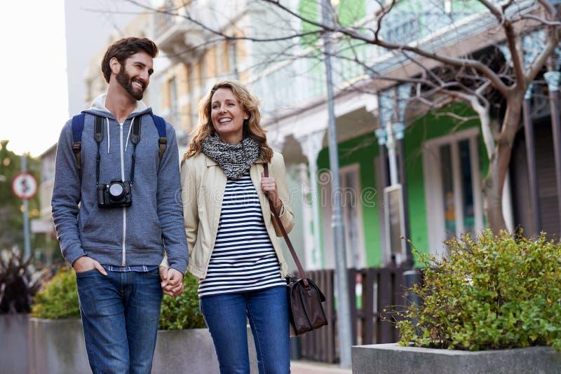 旅行走的城市 免版税库存图片