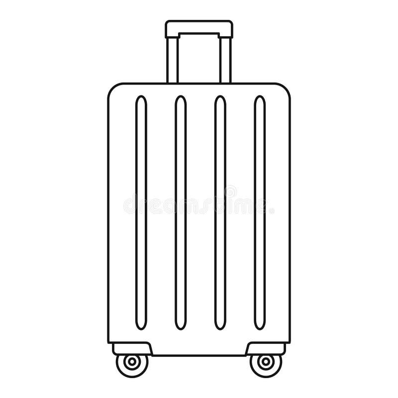 旅行转动袋子象,概述样式 皇族释放例证