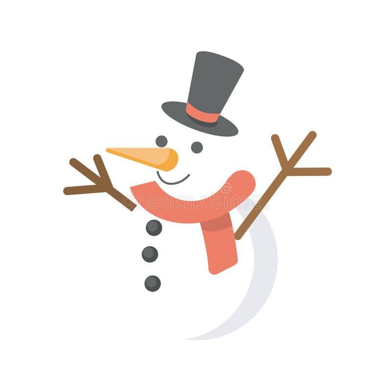 旅行雪人例证象 向量例证