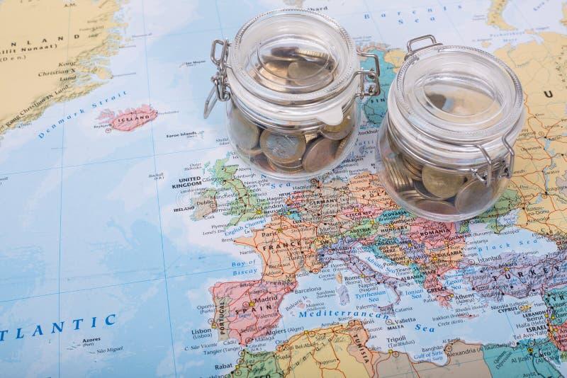 旅行预算金钱 库存图片