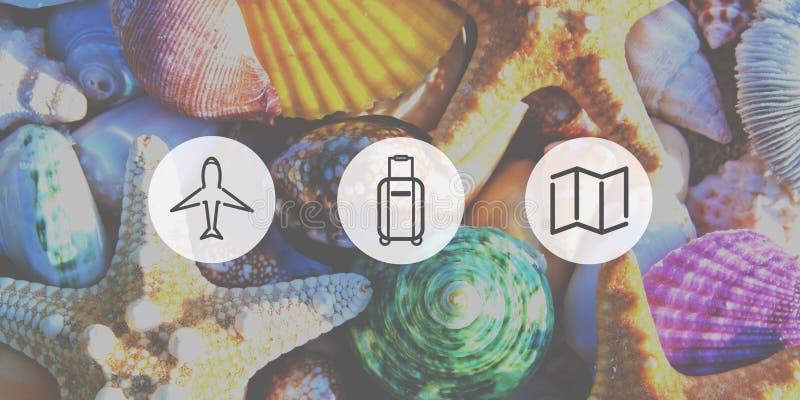 旅行飞行旅途冒险目的地概念 免版税库存照片
