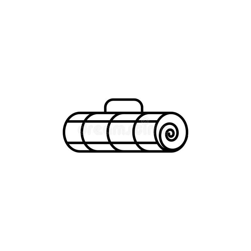 旅行,云杉,雪概述象 旅行例证的元素 标志和标志象可以为网,商标,流动应用程序使用, 皇族释放例证