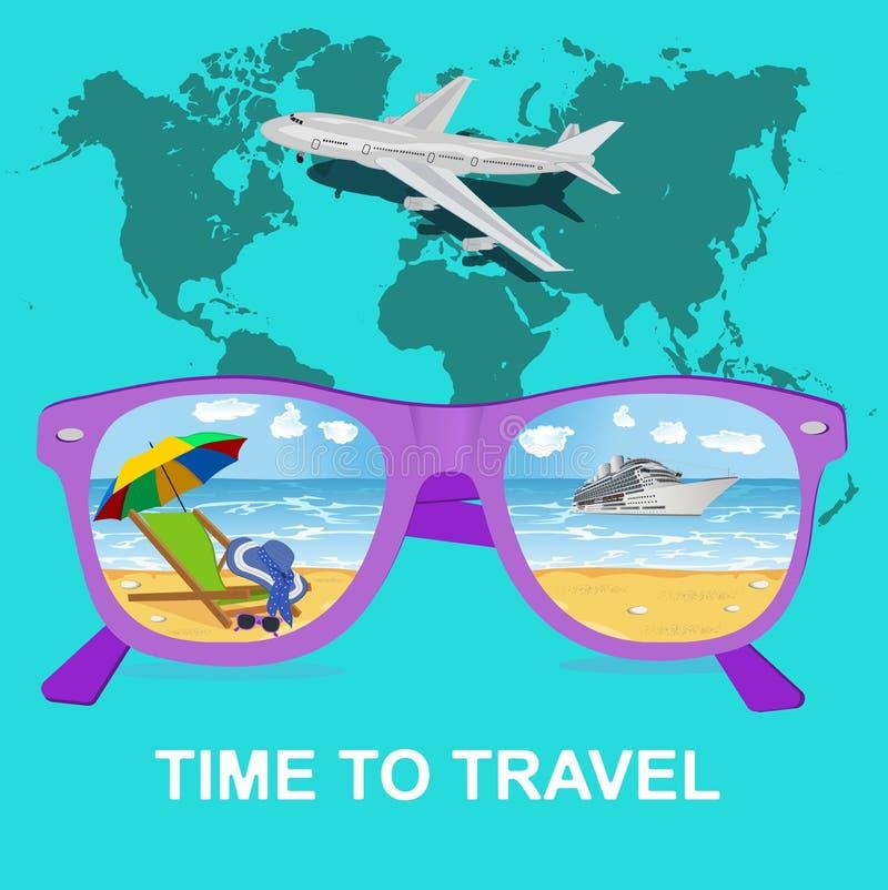 旅行,旅游业和假期概念,传染媒介 皇族释放例证