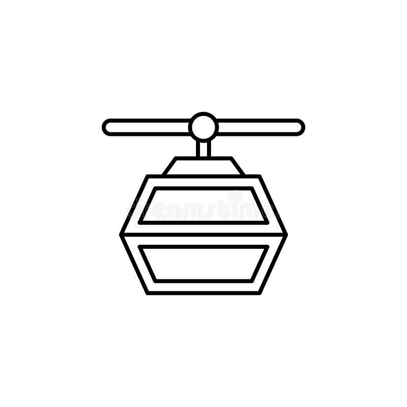 旅行,滑雪概述象 旅行例证的元素 标志和标志象可以为网,商标,流动应用程序,UI,UX使用 皇族释放例证