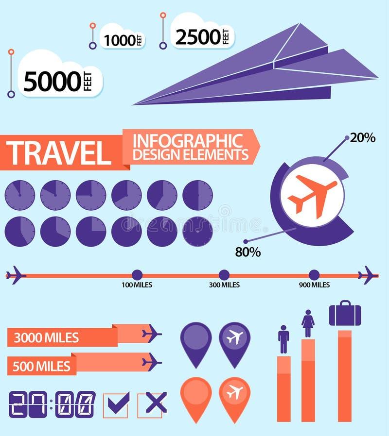 旅行/空中飞机Infographic设计元素 向量例证