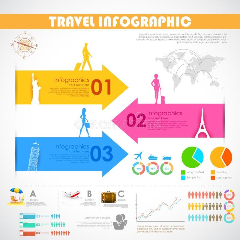 旅行Infographic 皇族释放例证