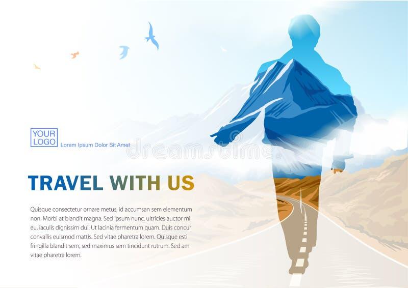旅行sevices横幅 给可印的模板做广告为POS材料 库存例证