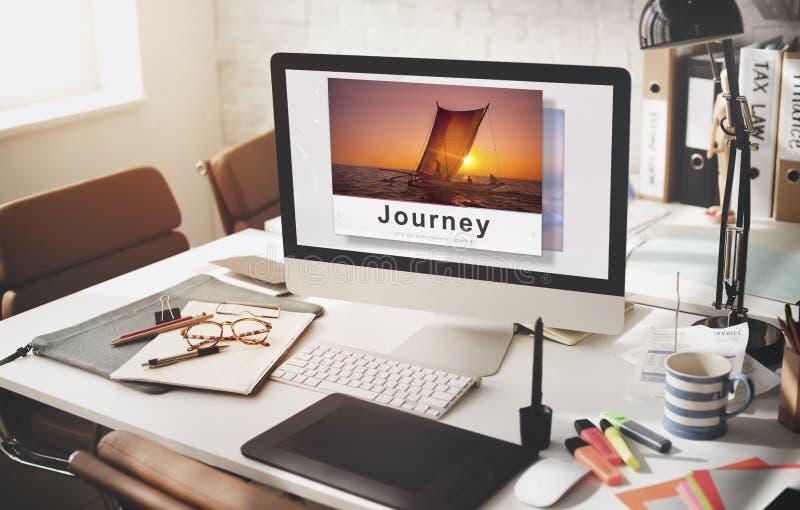 旅途冒险旅行探索目的地概念 免版税库存照片
