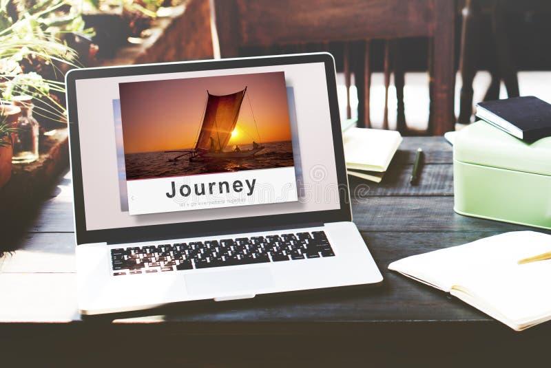 旅途冒险旅行探索目的地概念 免版税图库摄影