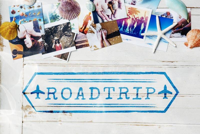 旅途目的地探索假期图表概念 库存图片