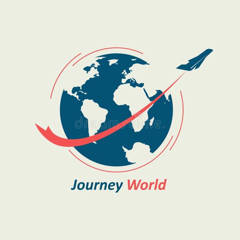 旅途通过世界 向量例证