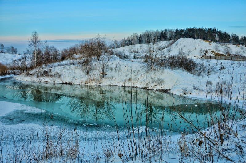 旅途通过西伯利亚 反射 免版税图库摄影
