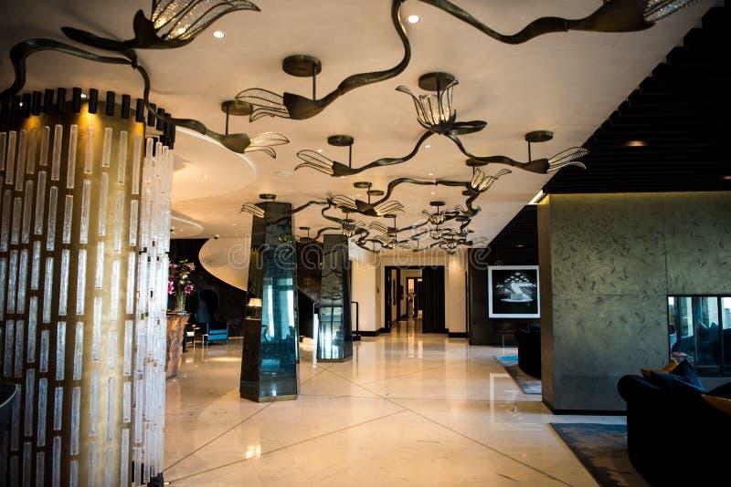 旅馆亚特兰提斯Giordino,瑞士苏黎士,门厅 免版税图库摄影