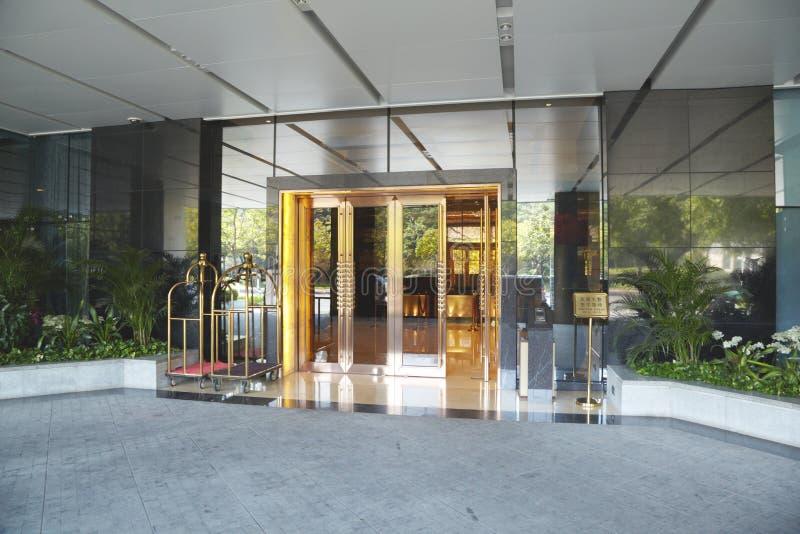 旅馆入口。 库存图片