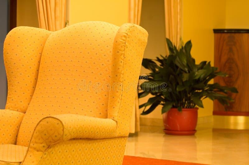 旅馆内部休息室 库存照片