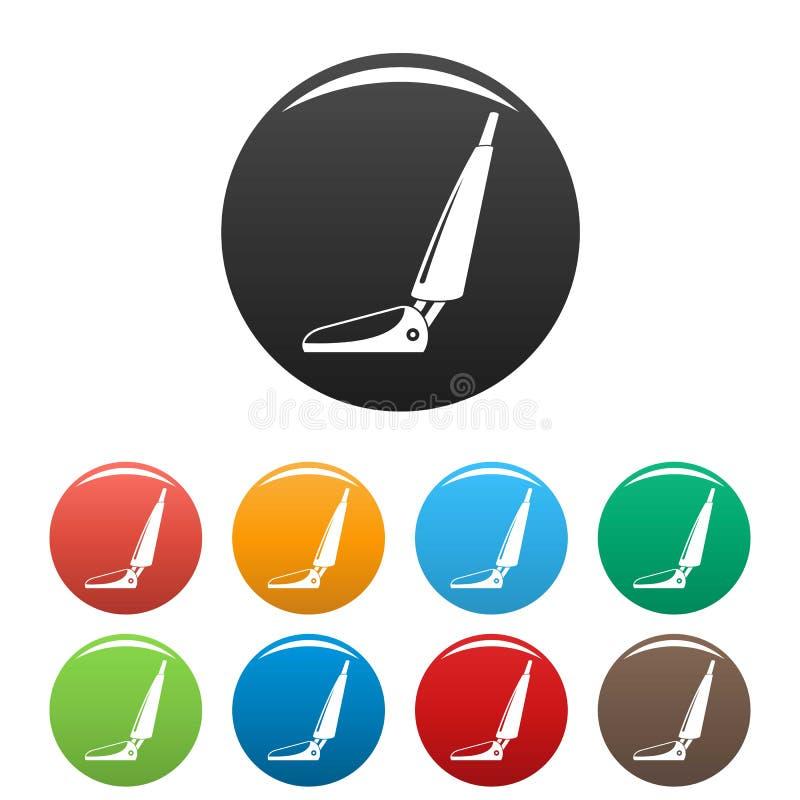 旅馆吸尘器象集合颜色 向量例证