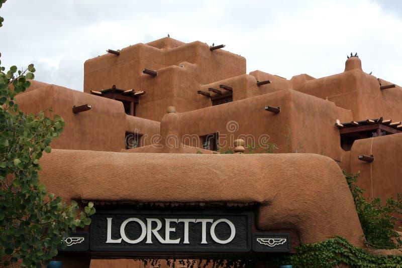 旅馆和温泉在洛勒托 库存图片