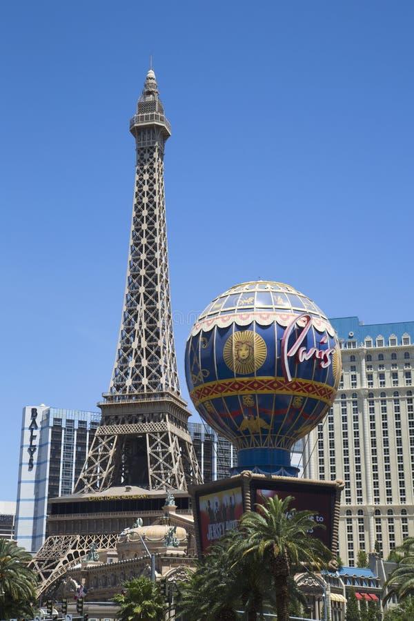 巴黎旅馆和赌博娱乐场的艾菲尔铁塔 库存图片