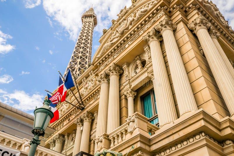 巴黎旅馆和赌博娱乐场,艾菲尔铁塔餐馆 免版税库存图片