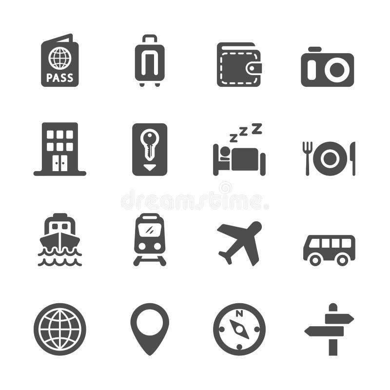 旅馆和运输象集合,传染媒介eps10 库存例证