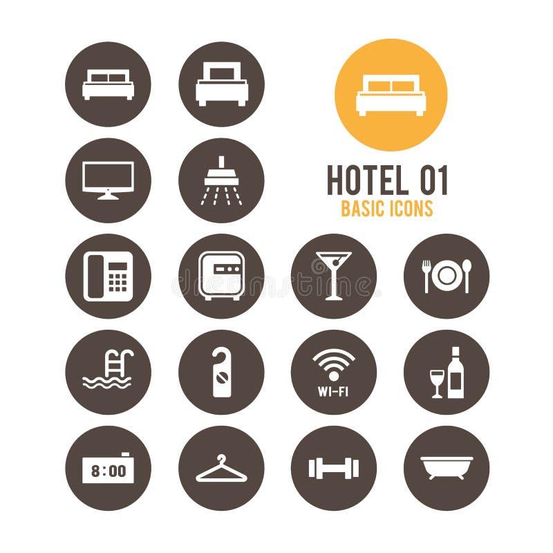 旅馆图标 也corel凹道例证向量 皇族释放例证