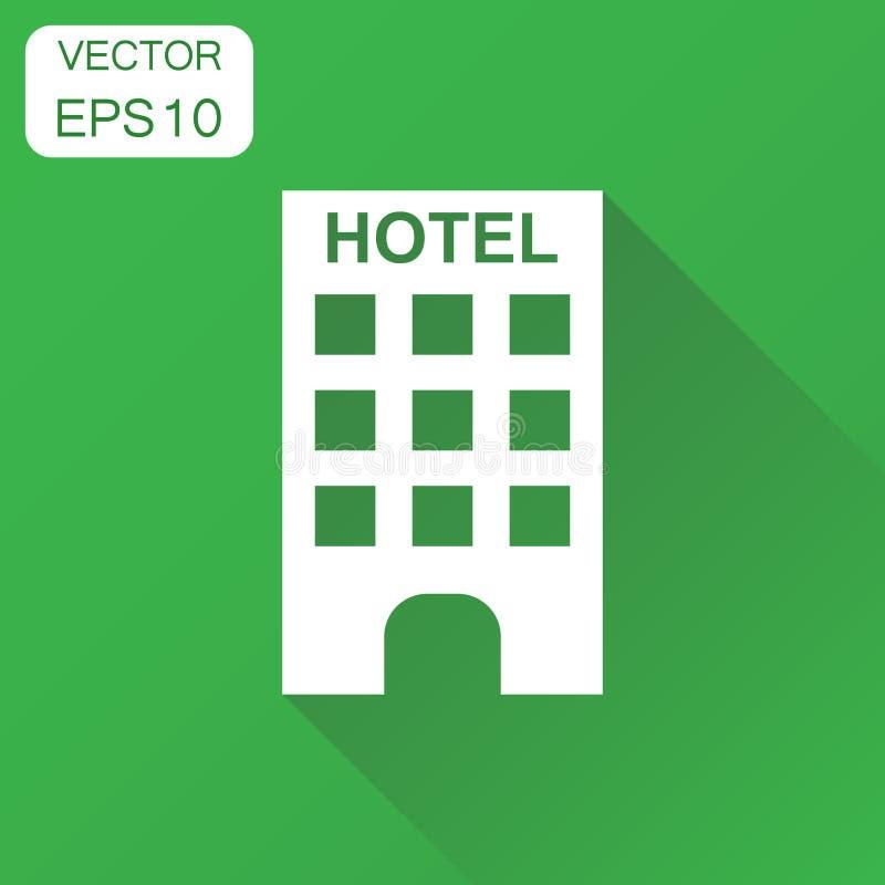旅馆图标 企业概念旅馆图表 向量Illustratio 库存例证
