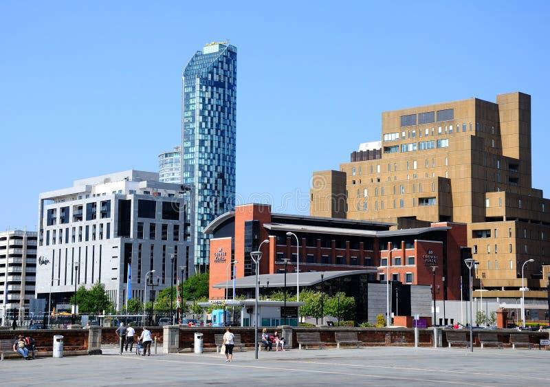 旅馆在利物浦市中心 库存图片