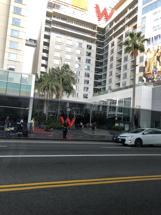 旅馆在好莱坞 免版税库存照片