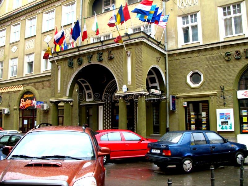 旅馆在布拉索夫 免版税库存照片