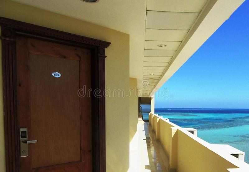 旅馆在洪加达 库存照片