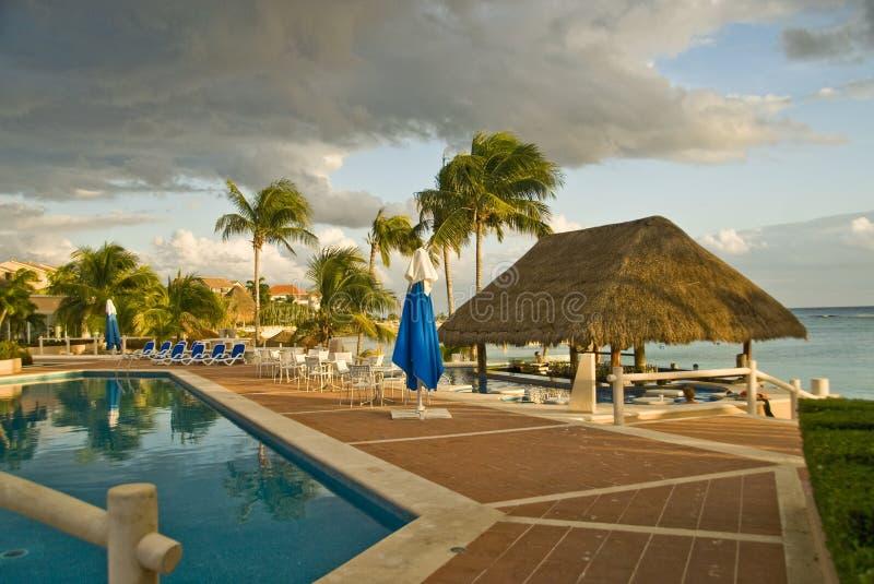 旅馆墨西哥池手段 免版税库存照片