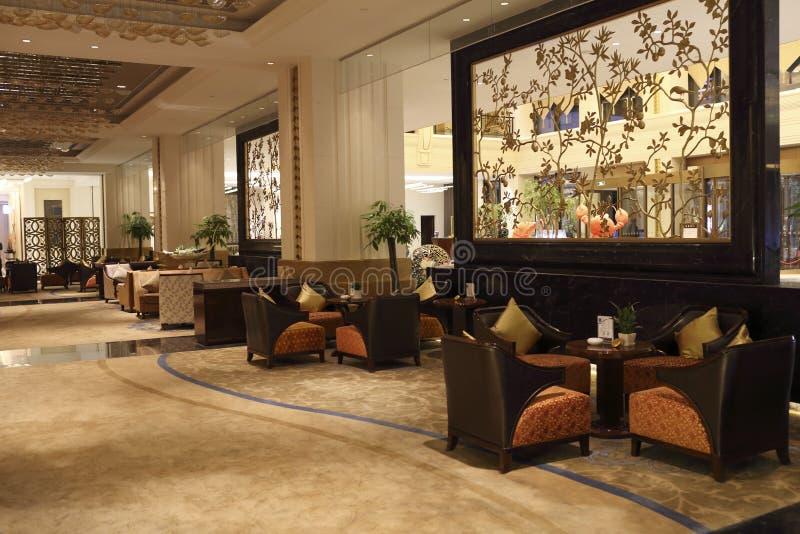 旅馆大厅酒吧 库存照片
