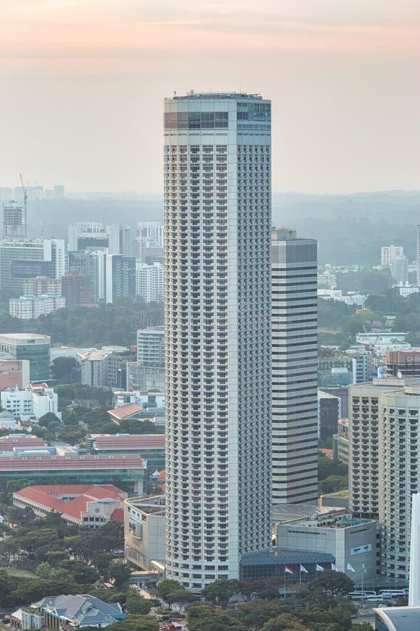 旅馆大厦在新加坡 库存照片