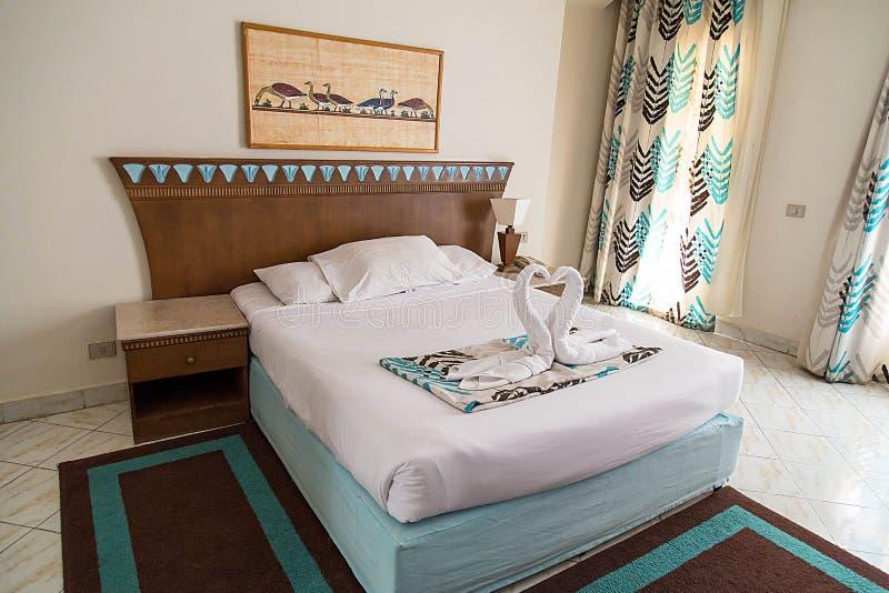 旅馆客房在洪加达 免版税库存照片