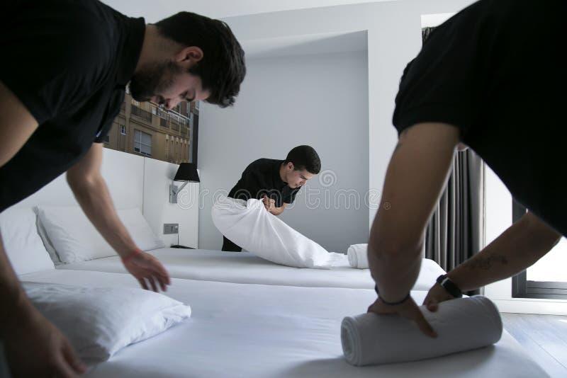 旅馆客房工作者032 库存照片
