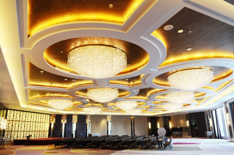 旅馆宽敞的会议室 图库摄影